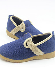 Boy's Loafers & Slip-Ons Spring Fall Comfort Linen Casual Flat Heel Navy Blue Beige