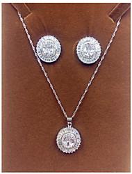 Femme Simple Style Zircon Colliers décoratifs Boucles d'oreille Pour Soirée Cadeaux de mariage