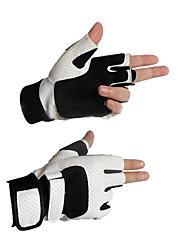 Luva de fitness luva passeio de palma formação haltere pulso deslizamento metade dedo equipamento
