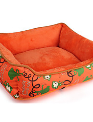 Dog Bed Pet Mats & Pads Casual/Daily Orange Fabric