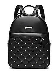 M.Plus® Women's Fashion Korean Plaid Rivet PU Leather Backpack