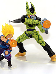 Figures Anime Action Inspiré par Dragon Ball Son Gohan Anime Accessoires de Cosplay figure Vert PVC