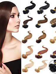 U Tip Nail Pre-bonded Fusion Hair Extensions Keratin Nail Tip Virgin Brazilian Human Hair 0.5G/S 100G/PC 1Pc/Lot