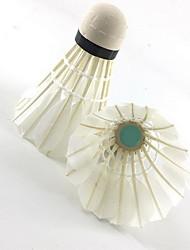 Badminton Bälle(Weiß,Entenfeder) -Hochelastisch Dauerhaft