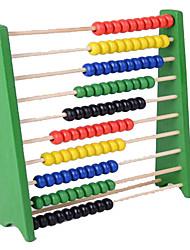 Обучающая игрушка Игрушечные счеты Круглый Цилиндрическая Дерево Радужный Для мальчиков Для девочек