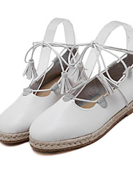 Women's Flats Others Leatherette Outdoor Brown White