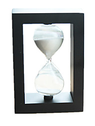 Hourglasses Novelty Toy Circular / Square Glass Black / White For Boys / For Girls 5 to 7 Years / 8 to 13 Years / 14 Years & Up