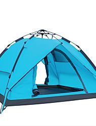 FlyTop® 3-4 personnes Tente Double Tente automatique Une pièce Tente de camping Fibre de verre Polyester OxfordRésistant à l'humidité