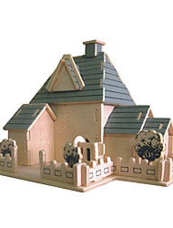 Jigsaw Puzzles Wooden Puzzles Building Blocks DIY Toys Happy House 1 Wood Ivory Model & Building Toy