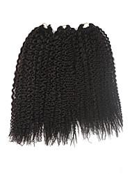 Island Twist Pre-loop Crochet Braids Medium Brown Hair Extensions 16Inch Kanekalon 1 Package For Full Head 148g gram Hair Braids