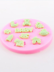 Bear Trojans Baby Fondant Cake Chocolate Silicone Molds,Decoration Tools Bakeware