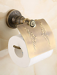 Antique Brass-Plated Fishinging Bathroom Accessories Solid Brass Material Toilet Paper Holders