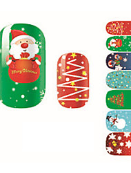 Fashion Christmas Nail Art Glitter Sticker