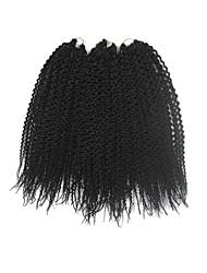 Pré-boucle Tresses crochet Île Twist Kanekalon Noir Extensions de cheveux 40cm Cheveux Tressée