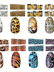 10PCS Leopard Style Nail Art Stickers M Series N0.75-88(Assorted Pattern)
