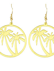 Gold Tree Hanging Statement Earrings