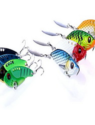 8 pcs VIB Hard Bait Fishing Lures Hard Bait Random Colors Hard Plastic Sea Fishing