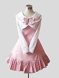 One-Piece/Dress Coat Sweet Lolita Princess Cosplay Lolita Dress Solid Long Sleeve Tea-length Dress Shawl For Cotton