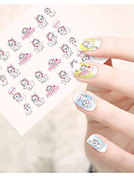 1pcs  Water Transfer Nail Art Stickers Fashion Mickey Lovely Cat Flower Dog Nail Art Design STZ36-40