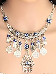 Modische Halsketten Statement Ketten Schmuck Party Die Hand von Fatima Quaste Aleación Damen 1 Stück Geschenk Silber