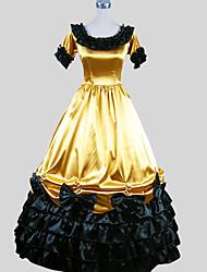 Платья/Платья Готика Викторианский стиль Косплей Платья Лолиты Однотонный С короткими рукавами По щиколотку смокинг Для Шармёз