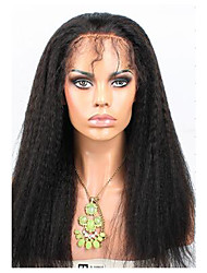 Brazilian Lace Front Human Hair Wigs 120% Density Kinky Straight with Baby Hair Remy 100% Human Hair