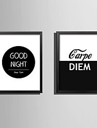 E-HOME® Framed Canvas Art Good Night Theme Series Framed Canvas Print One Pcs