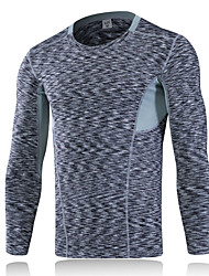 New Quick Dry Compression Tight Jersey Fitness Gym Training T-shirt Sports Running Bodybuilding Long Sleeve T Shirt Men 1PC