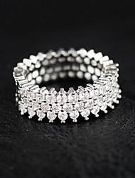 Ringe Strass Hochzeit Party Normal Schmuck Sterling Silber Strass Damen Ring 1 Stück,6 7 8 9 10 Silber