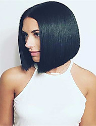 10-16 Inch Short Bob Free Part Straight Remy Virgin Peruvian Human Hair Full Lace Wigs