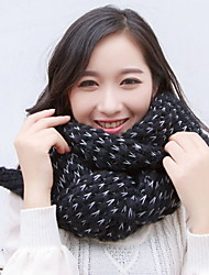 Women Wool Casual Thick Knitted Mohair Two - color Mixed Scarves Warm Shawl