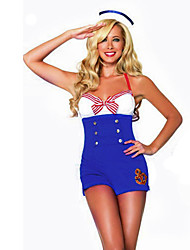 Cosplay Costumes Party Costume Sailor/Navy Career Costumes Festival/Holiday Halloween Costumes Patchwork Dress Hat Halloween Carnival