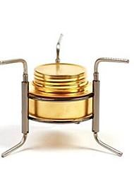 Aço Inoxidável fogão ouro Único Campismo Churrasco Caminhada Exterior Piquenique