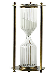 Toys For Boys Discovery Toys Hourglasses Cylindrical Glass Silver / Gold