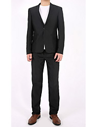 Costume / Tailleur Homme,Couleur Pleine Sortie Décontracté / Quotidien Travail simple Col de Chemise Normal Coton