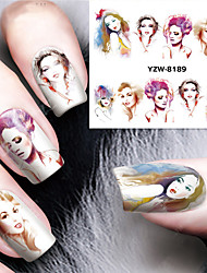 1pcs Modern Lady Watermark Nail Stickers Nail Art Design