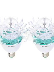 3W E26/E27 Lampe LED de Scène A60(A19) 3 LED Haute Puissance / lm RVB Décorative AC100-240 / AC 100-240 V 2 pièces