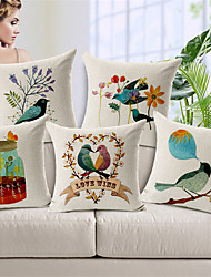 Bird Series Designed Style Cushion Covers Car Seat Covers For Sofa Home Decor Chair Pillowcase 17.7'X17.7' (45CMx45CM)