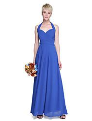 LAN TING BRIDE Floor-length Halter Bridesmaid Dress - Beautiful Back Sleeveless Chiffon