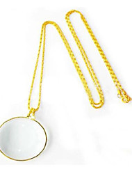 6 Magnification Zinc Alloy Necklace 6 Times Read The Newspaper Hanging Magnifying Glass
