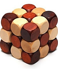 Kong Ming Lock Novelty Toy Square Wood For Boys / For Girls 5 to 7 Years / 8 to 13 Years / 14 Years & Up