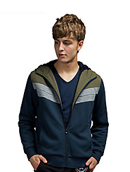 Trenduality® Men's Round Neck Long Sleeve Hoodie & Sweatshirt Navy - 31559