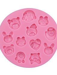 Cartoon Baby/Animal Baking Mold Fondant Cake Silicone Mold Fondant Decoration Tool Silicone Chocolate Mould SM-057
