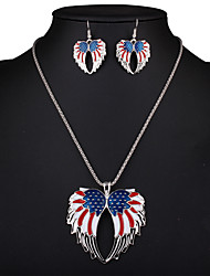 Angel wings set chain Angel Wing Necklace Set 0187#
