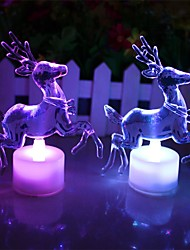 1Pcs  Christmas Reindeer Night Light Can Transformation   Many Color