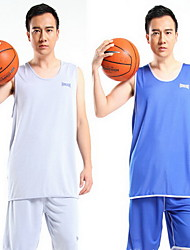 Homme Manches Courtes Basket-ball Course/Running Shirt Hauts/Tops Baggy Respirable Anti-transpiration Confortable
