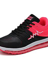Feminino-Tênis-ConfortoAzul Vermelho Coral-Sintético-Ar-Livre Casual