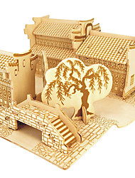 Jigsaw Puzzles Wooden Puzzles Building Blocks DIY Toys Jiangnan Water B 1 Wood Ivory Model & Building Toy