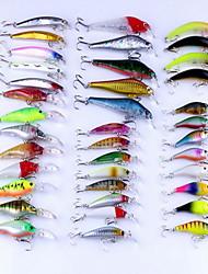 """38 pcs Poissons nageur/Leurre dur leurres de pêche Poissons nageur/Leurre dur Couleurs assorties 8 g/5/16 Once mm/3-1/4"""" pouce,Plastique"""