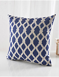 Modern Navy Pattern Cotton/Linen Decorative Pillow Cover
